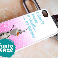 olaf quote glitter - iPhone 4/4s/5/5c/5s Case - Samsung Galaxy S2/S3/S4 Case- Blackberry z10 Case- iPod 4/5 Case - Black or White