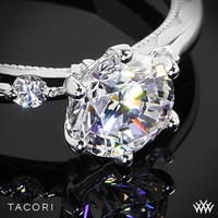 Zoomed View of Tacori Sculpted Crescent Classic 3 Stone Engagement Ring | 2736