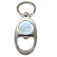 Kauai Hawaii Map Bottle Opener Key Chain