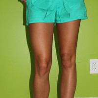 Beautiful Bow Shorts: Mint