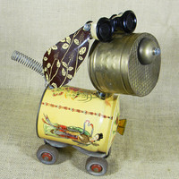 MIKO - the robot dog - Reclaim2Fame - assemblage dog sculpture