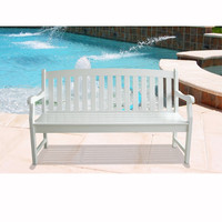 Bradley Outdoor Wood Bench with Vertical Supports