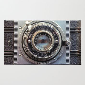Detrola (Vintage Camera) Area & Throw Rug by RichCaspian | Society6