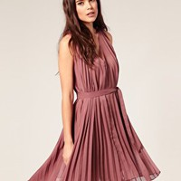 Vero Moda | Vero Moda Pleated &#x27;70s Dress at ASOS