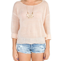 Knitted Spring Sweater - Peach