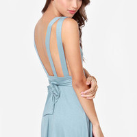 LULUS Exclusive World Go 'Round Light Blue Dress