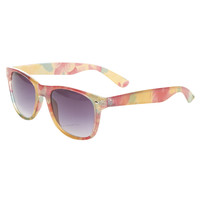 Tropical Floral Wayfarer Sunglasses | Wet Seal