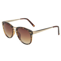 Metal Bridge Wayfarer Sunglasses | Wet Seal