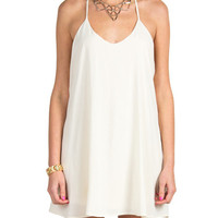 Crochet T Strap Dress - Cream - Medium