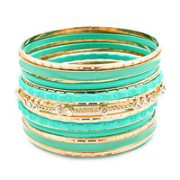 Pree Brulee - Sparkling Mint Bangle Set