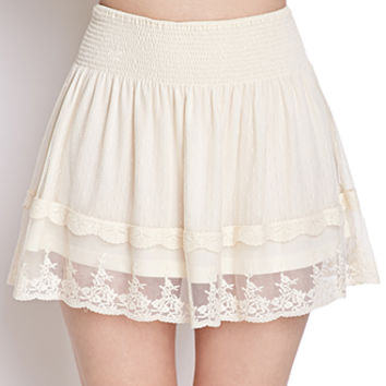 Swiss Dot Lace Skirt