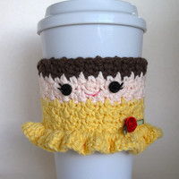 Crochet Belle Princess Coffee Cup Cozy