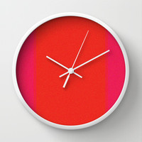 Re-Created Interference ONE No. 7 Wall Clock by Robert S. Lee