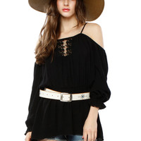 Papaya Clothing Online :: TRENDY PEASANT TOP