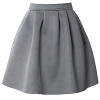 Relaxed Pocket Airy Skirt in Grey