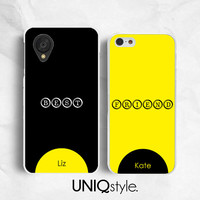 Personalized name Best Friends phone case - BFF twin infinity 8 case - iphone 4 4s 5 5s 5c, Moto G Moto X, Nexus 4 5, Xperia Z Z1 - L93