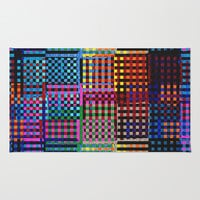 SQUARE-MINDED Area & Throw Rug by Catspaws | Society6