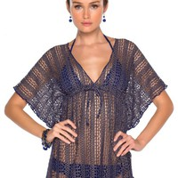 Becca by Rebecca Virtue Women's Metallic Mirage Tunic Swim Cover Up