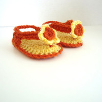 Crochet baby flip flops, crochet baby sandals, baby shoes, baby slippers, unisex shoes