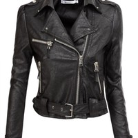 Doublju Motorcycle Jacket With Belt Strap