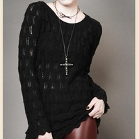 RAVEN'S BLACK GOTHIC SWEATER