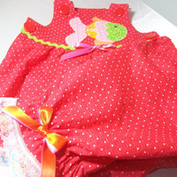 Baby Girl Summer Clothes - Baby Suntop and Pantaloons Set