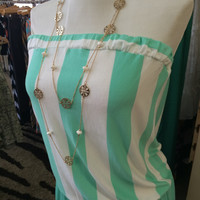 Mint Drop Waist Romper