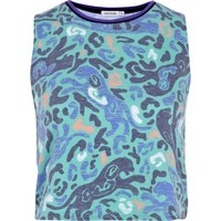 Green tiger print tank top - tops - sale - women