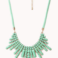 Art Deco Braided Bib Necklace