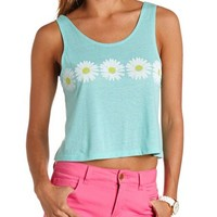 DAISY GRAPHIC SWING CROP TOP