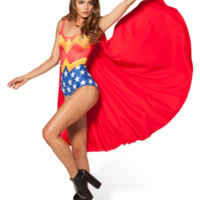 Wonder Woman Cape Suit