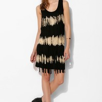 Love Sam Knit Tie-Dye Fringe Dress - Urban Outfitters
