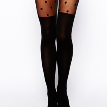 ASOS Polka Dot Over The Knee Tights