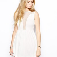 For Love & Lemons Lulu Mesh Panel Dress