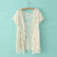 A 01703 bb Lace cardigan shirt