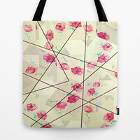 Poppy Pattern Tote Bag by DuckyB (Brandi)