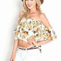 Off Shoulder Garden Top