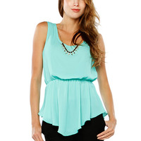 Papaya Clothing Online :: NECKLACE CHIFFON DRESSY TOP