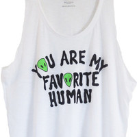 Favorite Human Tank Top | Jawbreaking