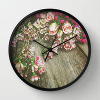 She Had a Spirit That Was Wild and Free Wall Clock by Olivia Joy StClaire