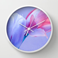 SPRING TULIPS Wall Clock by VIAINA | Society6