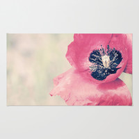 Poppy Area & Throw Rug by Katayoon Photography