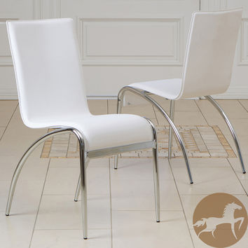Christopher Knight Home Kensington White Modern Chairs (Set of 2)