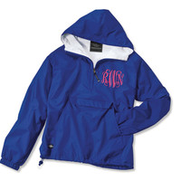 Monogrammed Pullover Rain Jacket Personalized Sorority Greek Charles River Brand