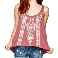 FULL TILT Womens Split Back Tank