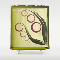 Plum Garden Shower Curtain by Ramon Martinez Jr
