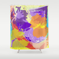 Abstract 130 Shower Curtain by Ramon Martinez Jr