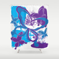 Butterfly 01 Shower Curtain by Ramon Martinez Jr