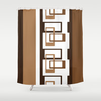 Retro Pattern 03 Shower Curtain by Ramon Martinez Jr