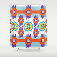 Atara iKat Shower Curtain by Ramon Martinez Jr